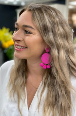 Make a Statement earrings in Magenta