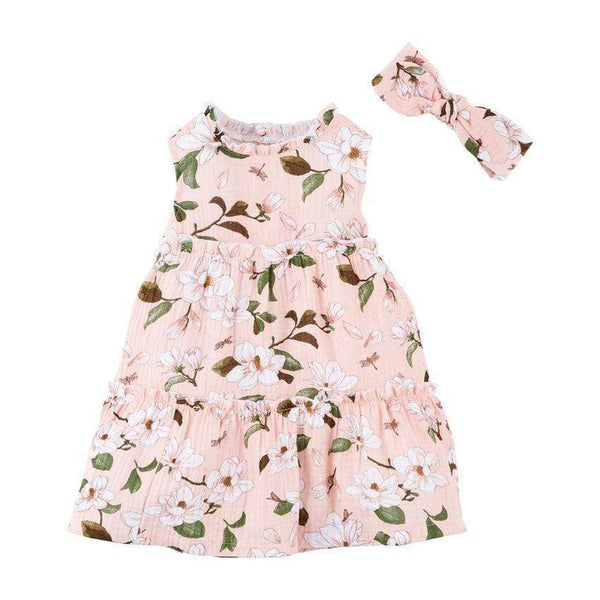Magnolia Girl's Dress and Headband Set