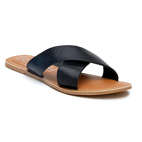 Pebble Sandal, Black Leather