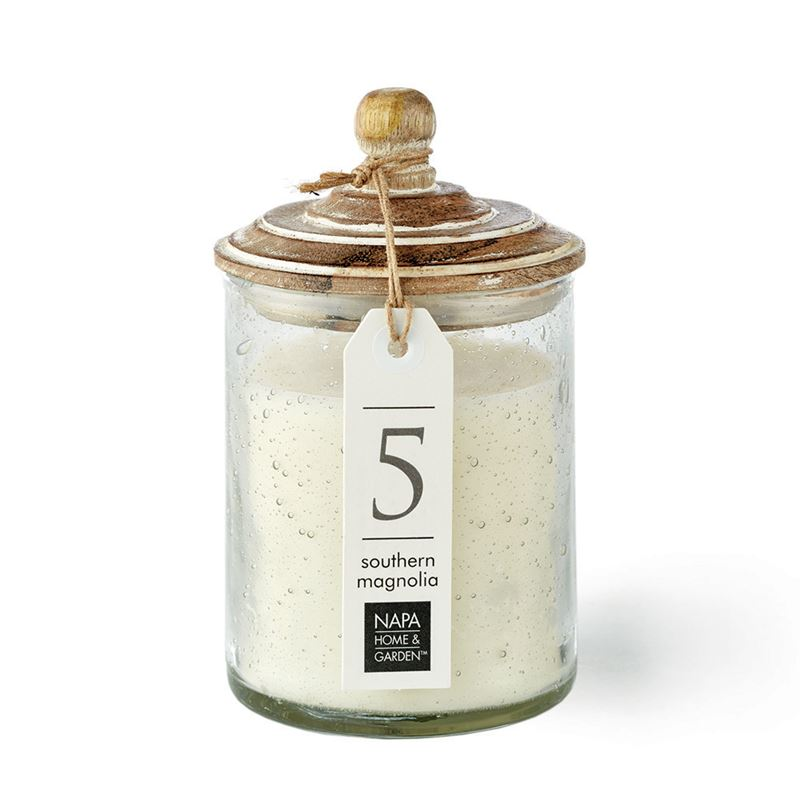 Gray Oak Wax Candle, Southern Magnolia