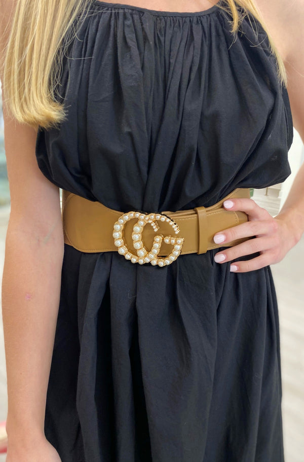 Luxe Stretch Belt, Camel