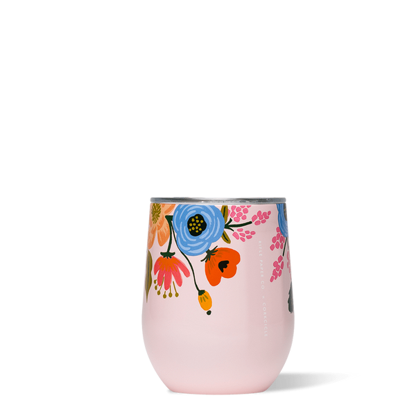 12 oz. Rifle Paper Stemless, Lively Floral Blush