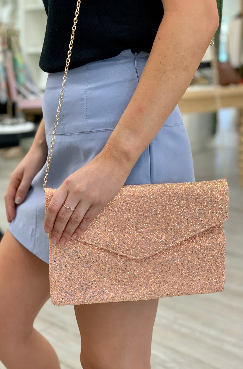 Fun & Flirty Sequin Clutch in Champagne