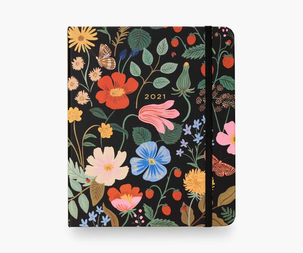 Strawberry Fields 17-Month Covered Planner