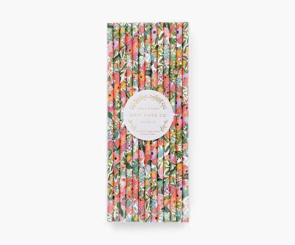 Rifle Paper Co. Straws, Garden Party (Set Of 25)