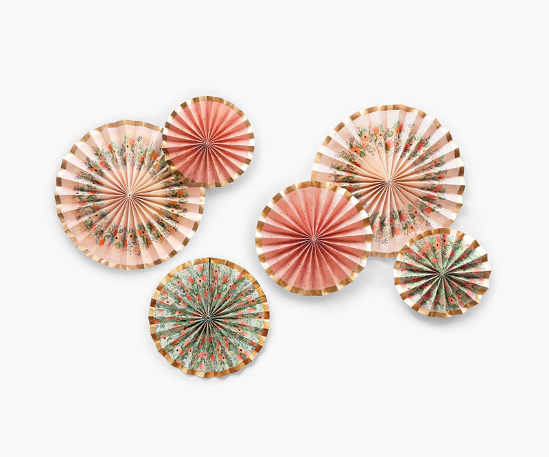 Party Fans, Wildflower (Set Of 6)