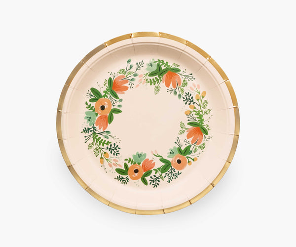 Rifle Paper Co. Large Plate, Wildflower