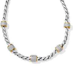 Meridian Necklace, Two Tone