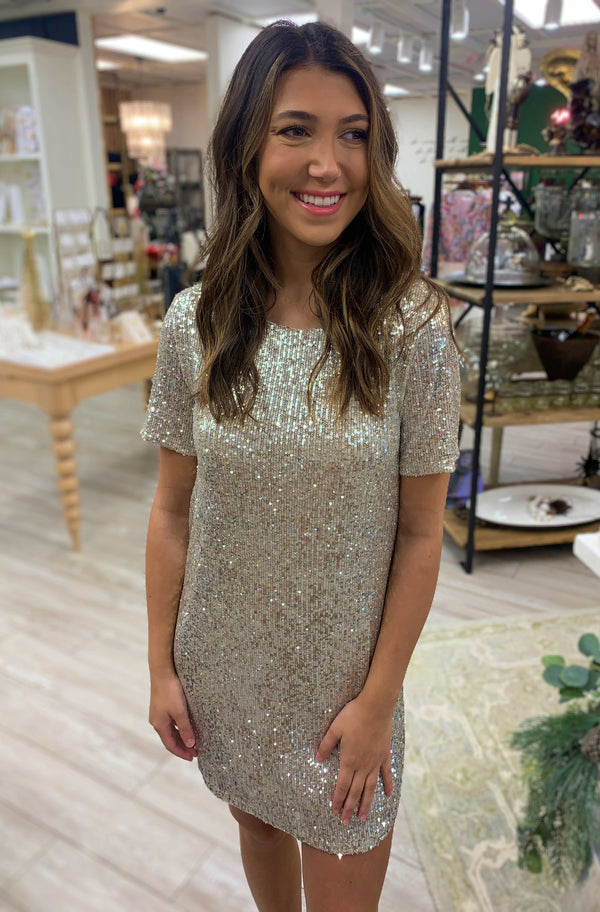 Hit The Lights Dress, Silver