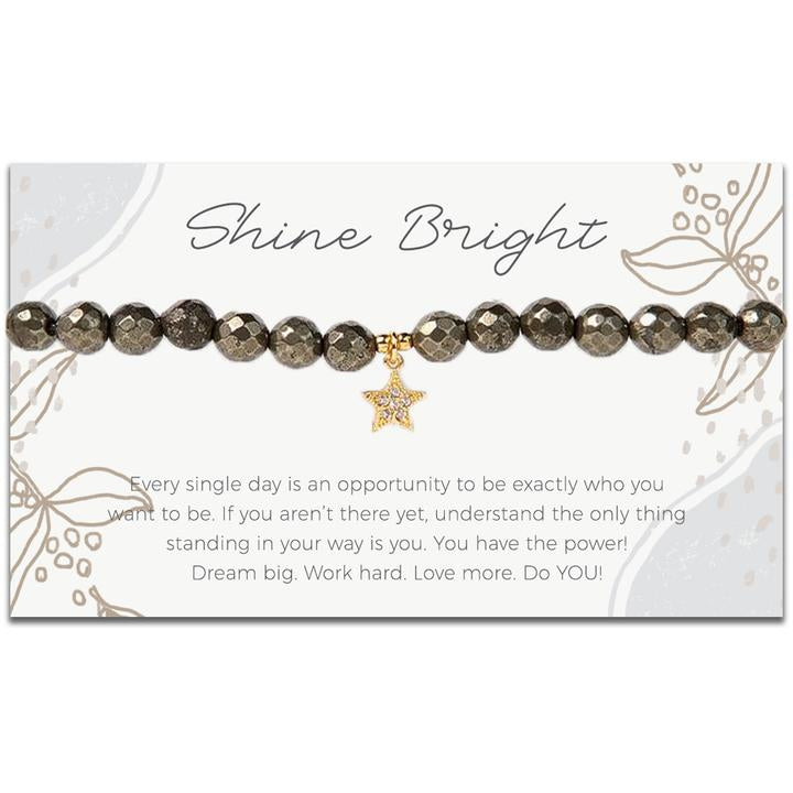 Token Stretch Bracelet, Shine Bright