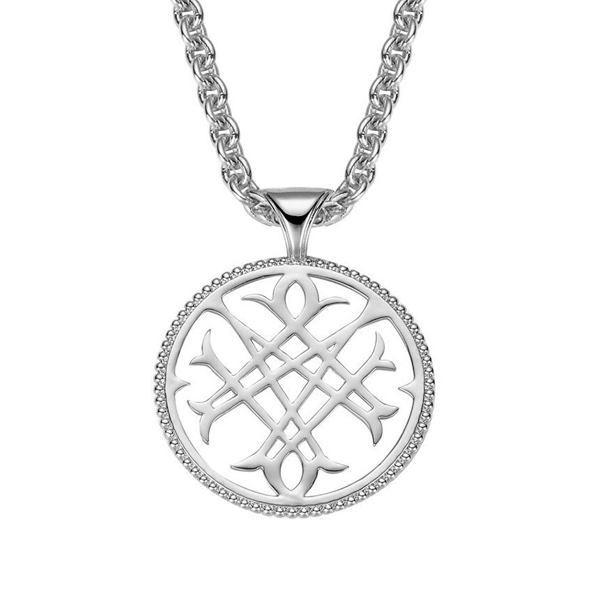 NATALIE WOOD DESIGNS Logo Pendant Necklace in Silver