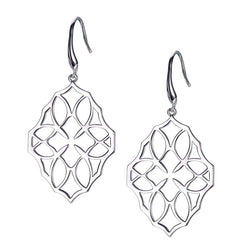 NATALIE WOOD DESIGNS Believer Large Drop Earrings in Silver