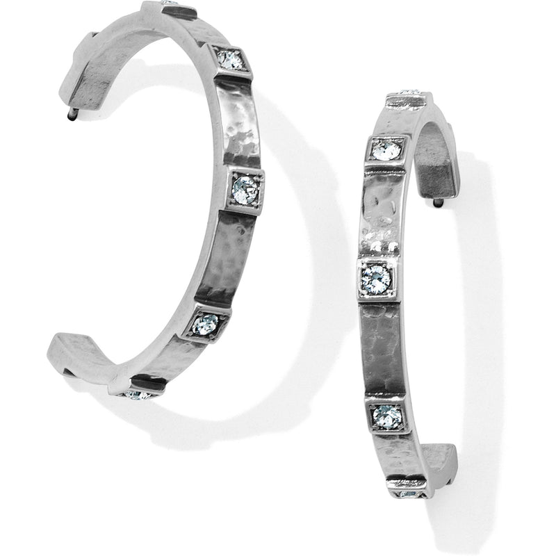 Meridian Zenith Station Hoop Earrings in Silver