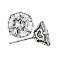 Brilliance 8MM Post Earrings