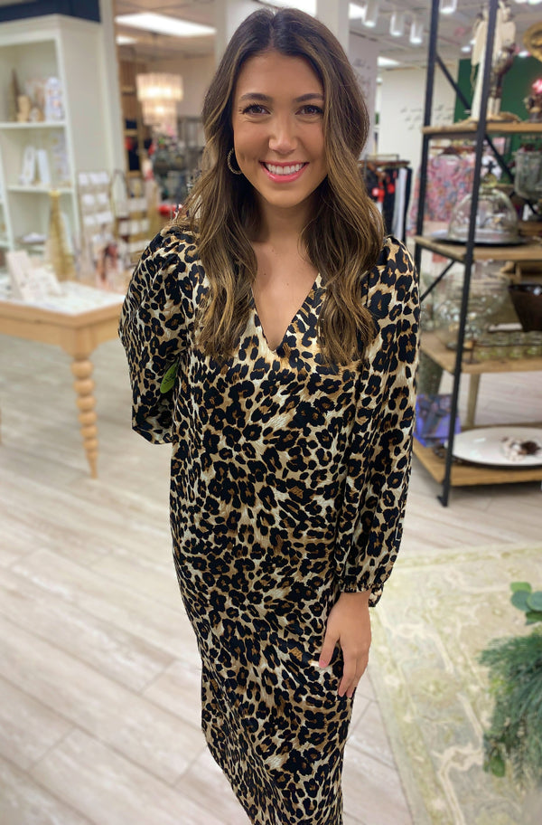 Jana Dress, Leopard