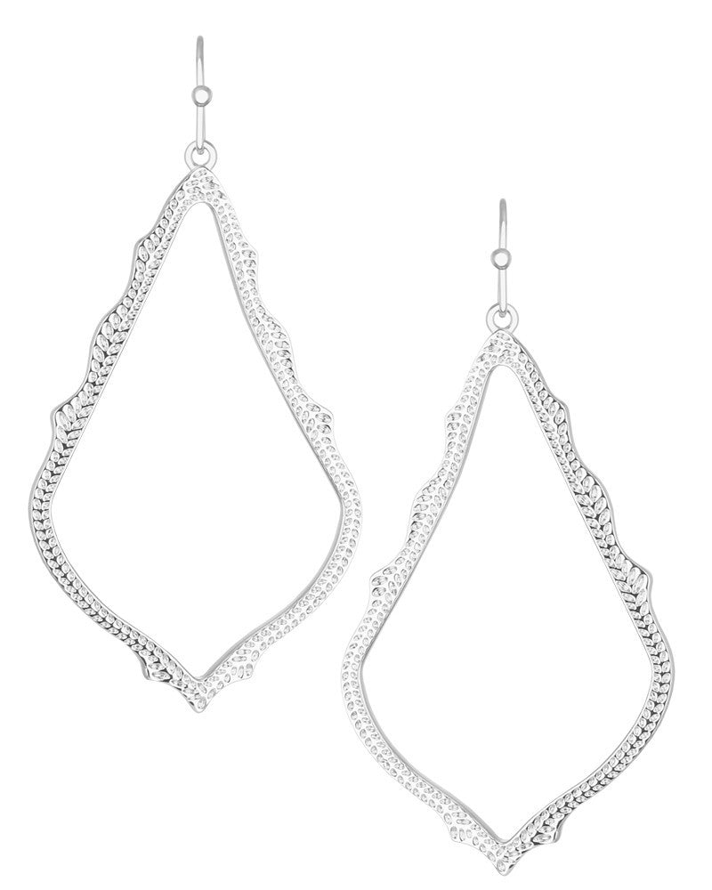 KENDRA SCOTT SOPHEE EARRINGS IN SILVER - Sabi Boutique - 1