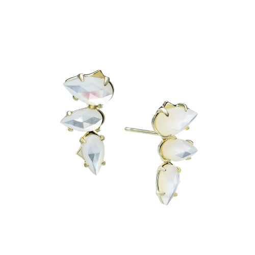 Daydreamer Stud Earrings in Ivory Pearl, Gold