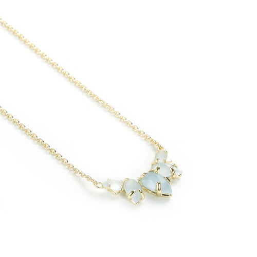Daydreamer Necklace in Blue Chalcedony, Gold