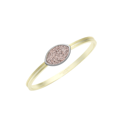She's A Gem Bangle Bracelet in Rose Drusy