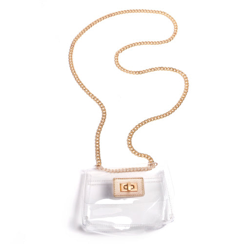 Lia Crossbody Bag, Gold