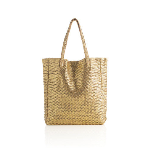 ORNELLA TOTE WITH ZIP POUCH,GOLD