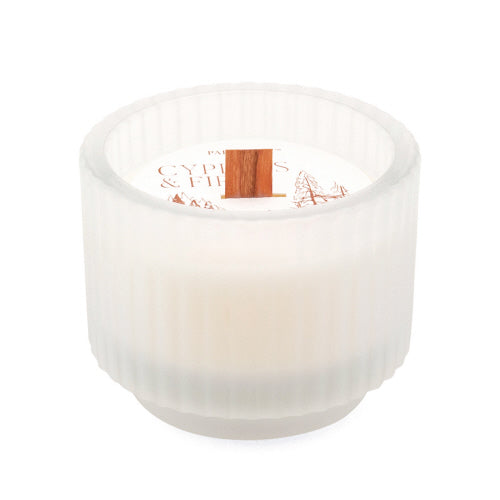 Cypress Fir Holiday 5 Oz Frosted White Footed Ribbed Glass
