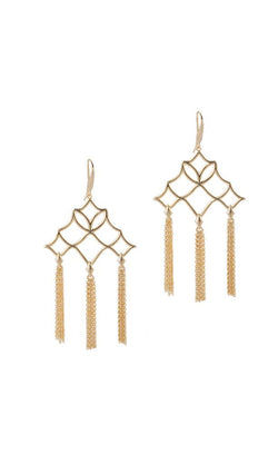 Southern Charm Tassel Earrings in Gold