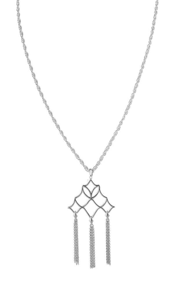 NATALIE WOOD DESIGNS Southern Charm Tassel Necklace - Silver