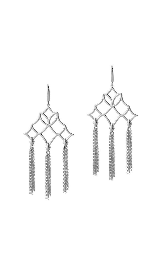 Southern Charm Tassel Earrings in Silver