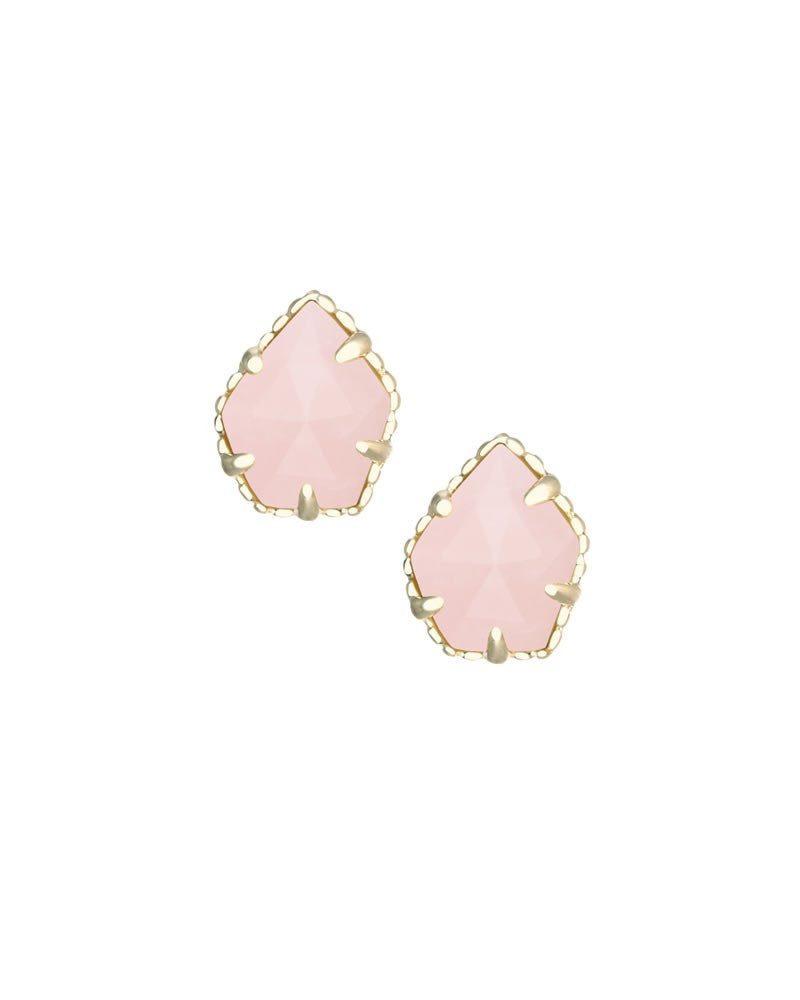 KENDRA SCOTT Tessa Stud Earrings in Rose Quartz