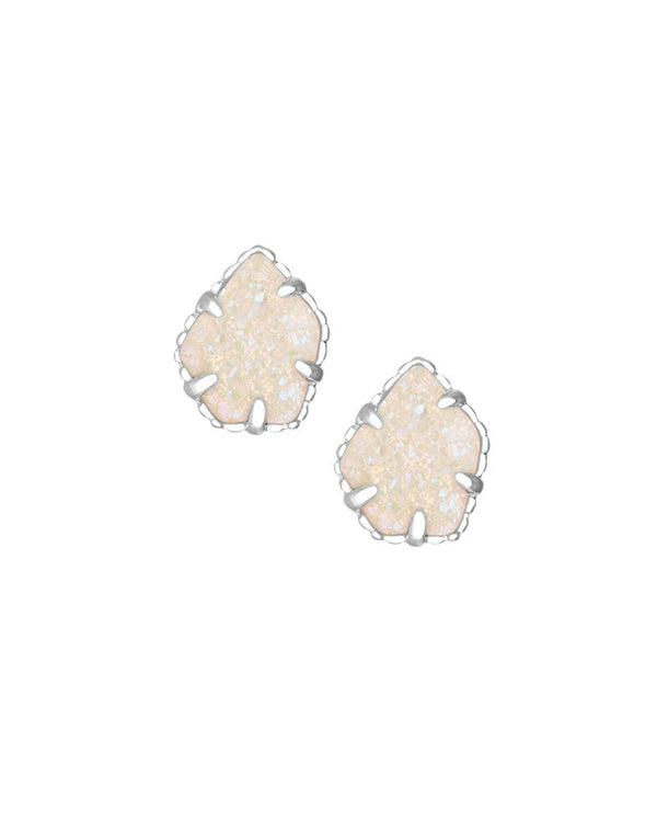 KENDRA SCOTT Tessa Silver Stud Earrings in Iridescent Drusy - Sabi Boutique - 1
