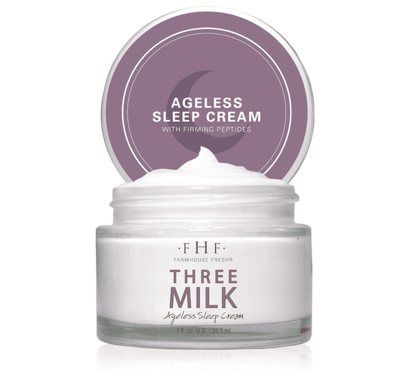 Three Milk Ageless Sleep Cream with Peptides