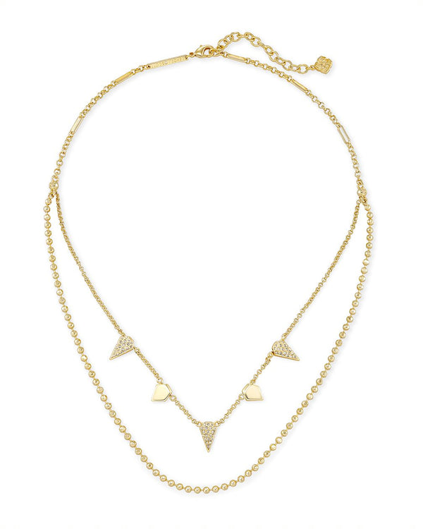 Demi Multi Strand Necklace in Gold