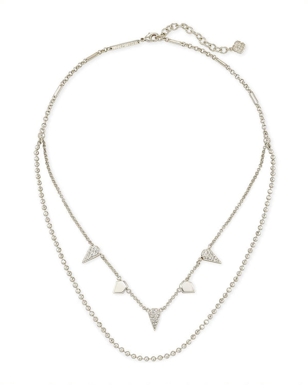 Demi Multi Strand Necklace in Silver