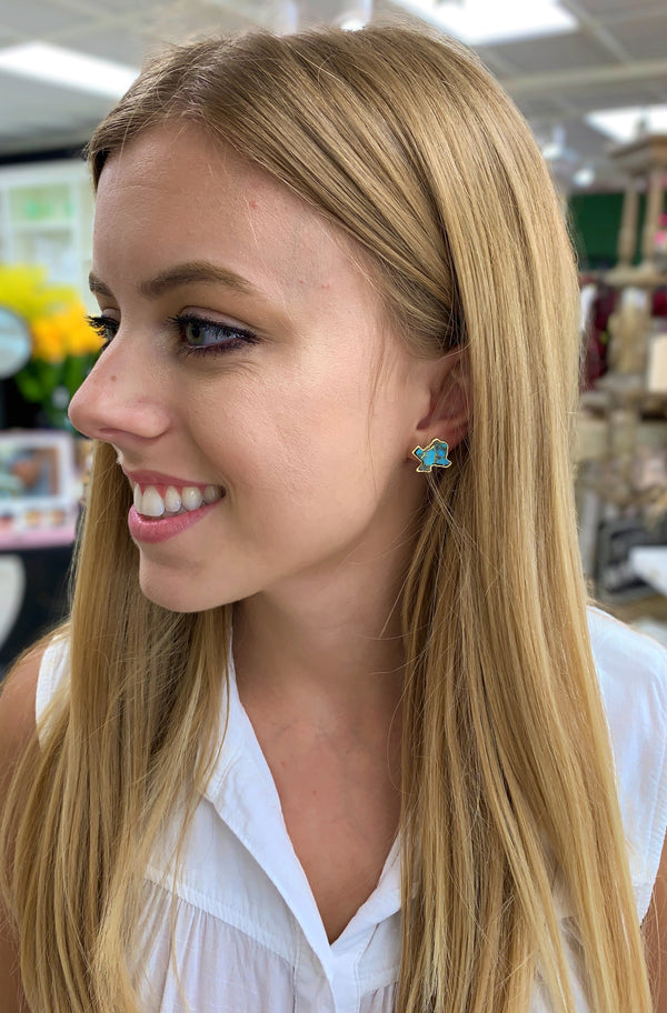 Texas Studs, Turquoise