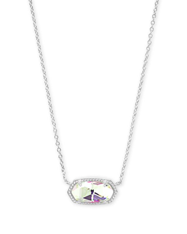 Elisa Silver Pendant Necklace in Dichroic Glass