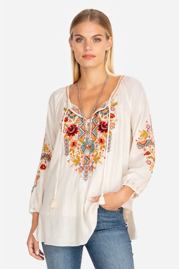 Clansy Peasant Blouse