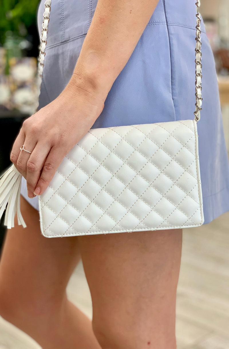 Marlee Clutch in White