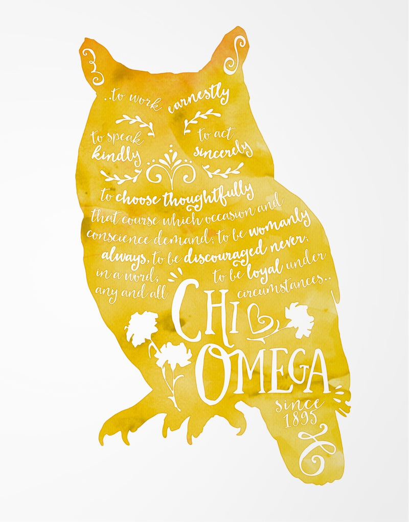 Sorority Watercolor Print