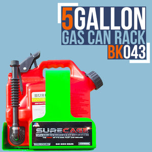BK043-SURECAGE 5 GALLON LOCKABLE SURECAN GAS CAN RACK