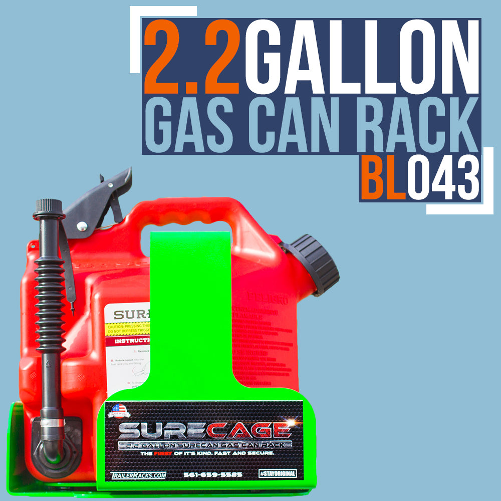 Model# BL043 Trailer Racks Gas Can Rack For SureCan 2.2-Gallon Gas Cans