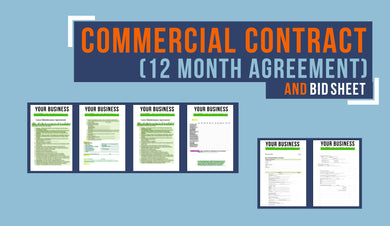 12 - Month Commercial Contract and Bid Sheet