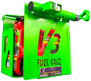 FCS200-2.5 GAL. FUEL CAGE LOCKABLE GAS CAN RACK FOR OPEN AND ENCLOSED TRAILERS