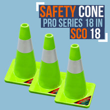 Load image into Gallery viewer, SC018-PRO SERIES 18 INCH SAFETY CONES (3 PACK)