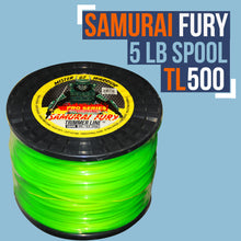 Load image into Gallery viewer, TL500-SAMURAI FURY TRIMMER LINE (5LB SPOOL/.095 GAUGE)