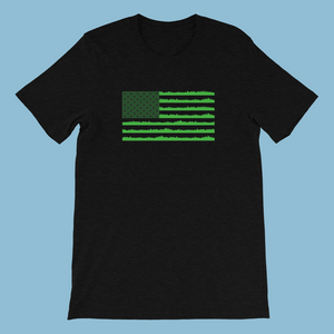 The Lawn Tools Grass Flag Short-Sleeve Unisex T-Shirt
