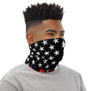 Red and White Lawn Flag Neck Gaiter