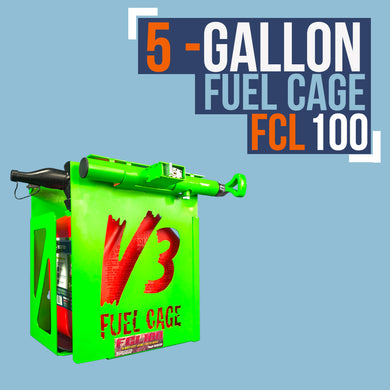 FCL100- 5 GAL. FUEL CAGE LOCKABLE GAS CAN RACK FOR OPEN AND ENCLOSED TRAILERS