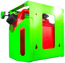 Load image into Gallery viewer, FCS200-2.5 GAL. FUEL CAGE LOCKABLE GAS CAN RACK FOR OPEN AND ENCLOSED TRAILERS