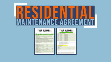 Residential Maintenance Agreement
